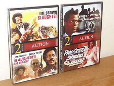 4 Blaxploitation Films - Organization, Sheba Baby, Slaughter, Big Rip-Off, NEW!