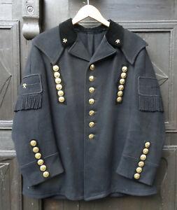 Antike-handgefertigte-originale-Miners-Steiger-Uniform-Bergmann-Jacke