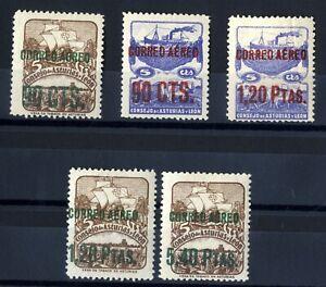 Sellos-de-Espana-1937-Asturias-y-Leon-NE-12-16-aereos-Nuevos-stamps