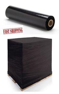 1 6 12 18 24 x  QUALITY STRONG BLACK PALLET STRETCH WRAP SHRINK 250m 300  400mm
