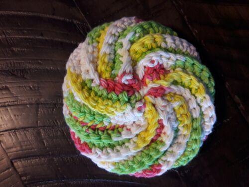 Handmade Crochet Face Body Scrubbie Large Scrubber 100/% Cotton NEW