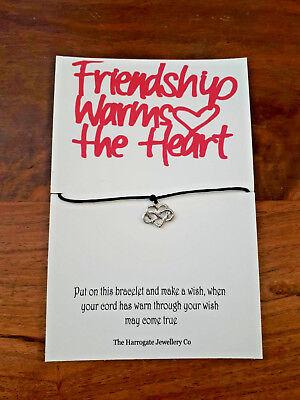 La amistad calienta el corazón pulsera de regalo pide un deseo Elegir Charm-CL131