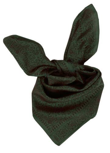 Trachtentuch foulard nickituch costumes foulard Femmes Hommes Soie Vert Noir