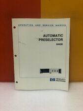 Hp Automatic Preselector 8445b Operation Amp Service Manual