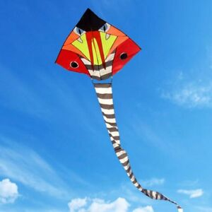 16m-52ft-Huge-Power-Cobra-Snake-Tail-Kite-Outdoor-Fun-Sport-Kids-Toy-Game-CA