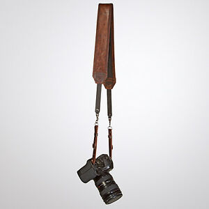 HEAVY-LEATHER-NYC-Brown-Classic-Camera-Strap-MADE-IN-USA-Leica-DSLR-Film-Canon