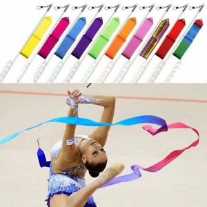 4m-Gymnastics-Rhythmic-Art-Ribbons-Streamer-Road-Stick-Baton-Twirling-Dance-UK