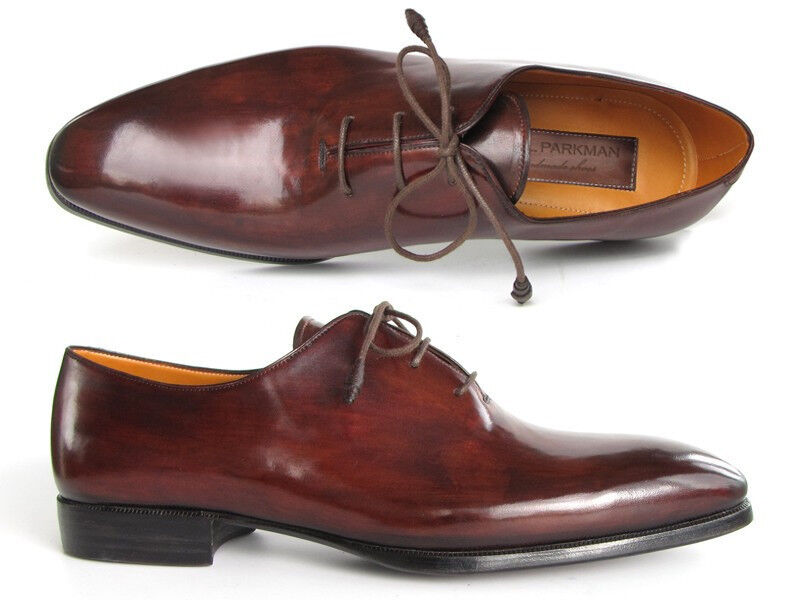 Paul Parkman Uomo Oxford Abito Scarpe Marroneee e bordeaux (ID 22T55)