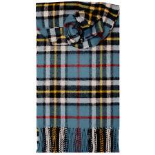 Lochcarron de Escocia 100% Lambswool Thompson Azul Tartan Bufanda Nuevo