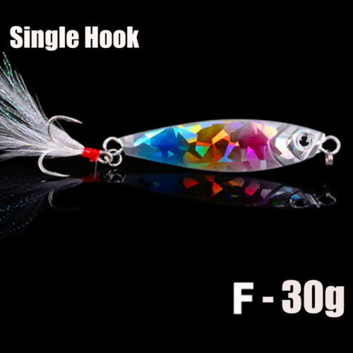 Colorful  Spinning Baits Feather Metal Fishing Lures Lead Casting Jig Bait
