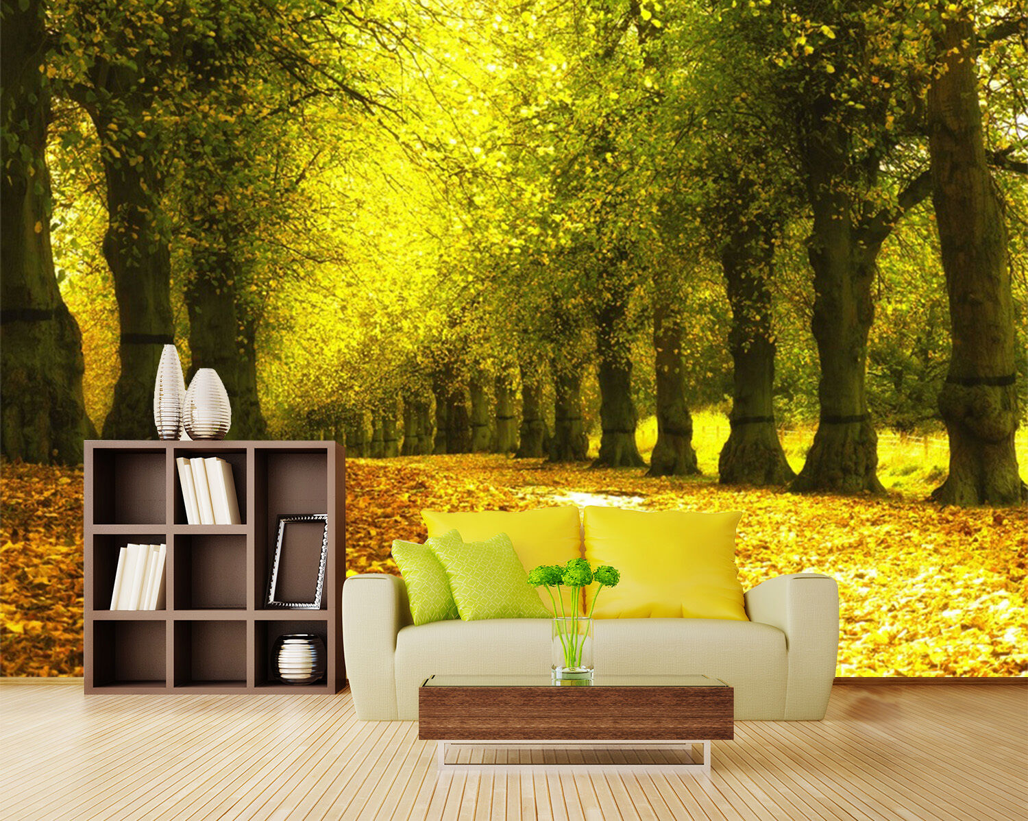 3D Deciduous leaves forest 56 wall Paper Print Decal Wall Deco Indoor wall Mural