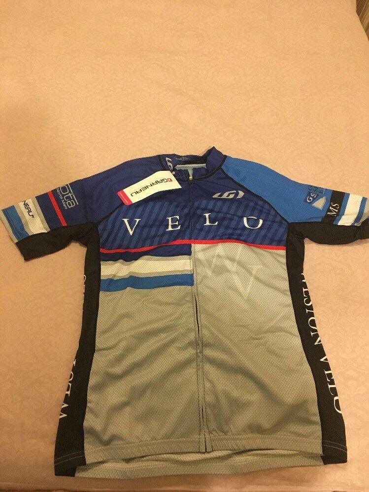 Louis Garneau Womens Rage Racing Mountain Velo Cycling Road Bike Jersey L bluee