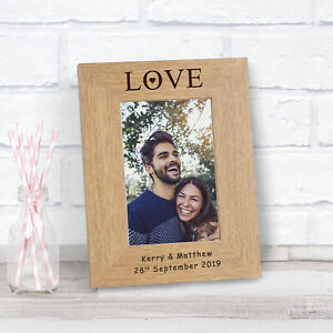 Personalised Finish Oak Father/'s Day Photo Picture Frame 6x4 I Love My Daddy