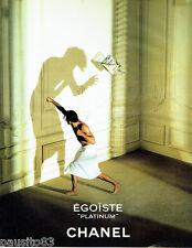 PUBLICITE ADVERTISING 046  1994   Chanel  eau toilette homme Egoiste Platinium