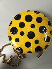 Louis Vuitton Yayoi Kusama vernis dots Chapeau coin purse in YELLOW