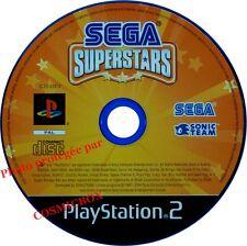 SEGA SUPERSTARS - jeu video Sonic mini jeux console sony PS2 PlayStation 2 pal