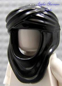NEW-Lego-Minifig-BLACK-KEFFIYEH-HEAD-WRAP-Prince-of-Persia-Headdress-Hood-7573