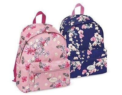 fantasia fiori colori rosa e viola Zaino americano scuola e tempo libero Pigna