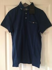 73549688a6cdc5 item 2 NEW - TED BAKER SQUARE HERRINGBONE JACQUARD MEN S POLO SHIRT MID  BLUE SIZE S -NEW - TED BAKER SQUARE HERRINGBONE JACQUARD MEN S POLO SHIRT  MID BLUE ...