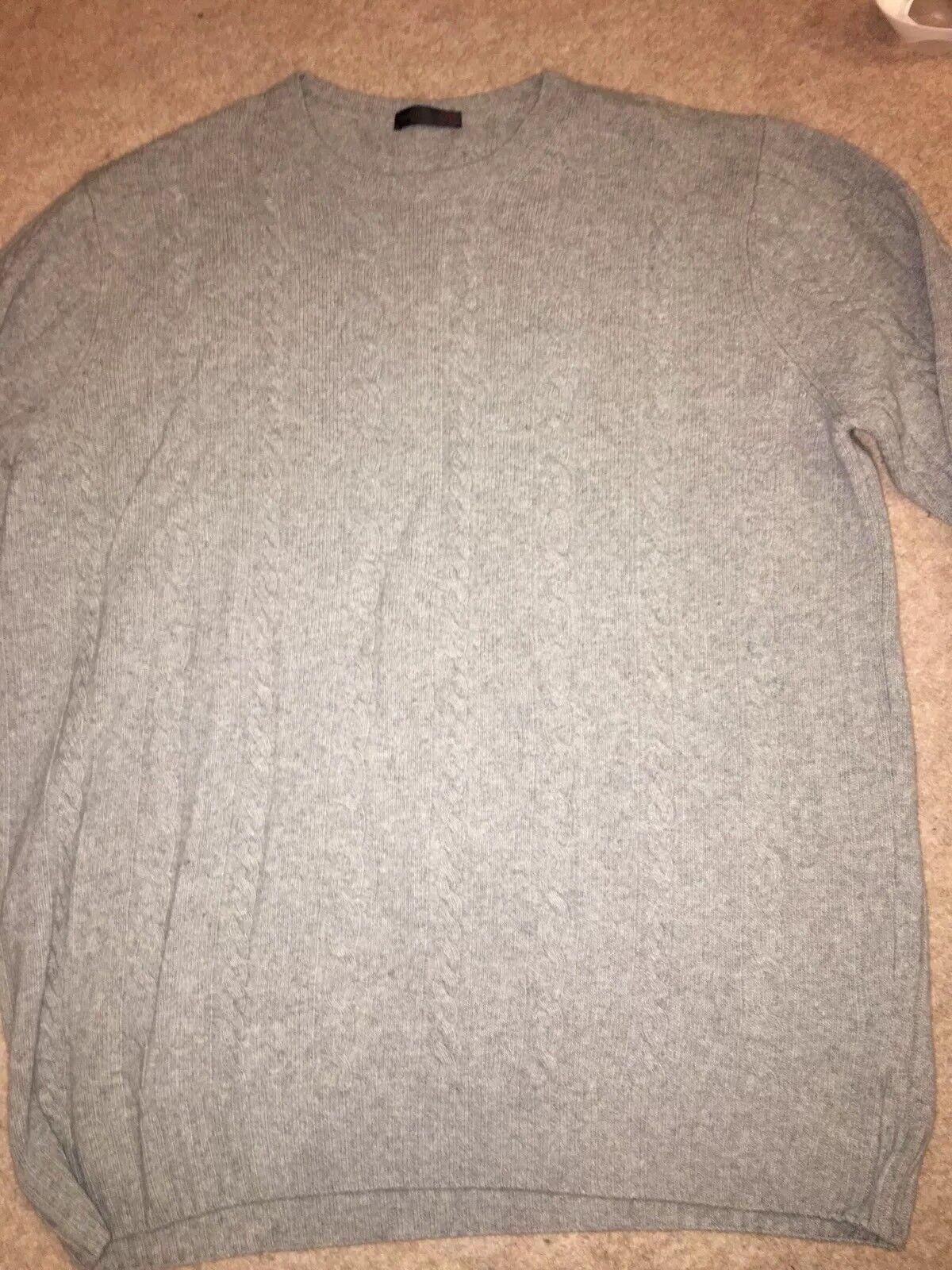 Uomo CORNELIANI MAGLIONE di lana, colore grigio, taglia 58, usato