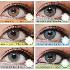 a295a57763 La foto se está cargando  Fashion-Gran-diametro-ojos-cosmeticos-color-maquillaje-lentes-