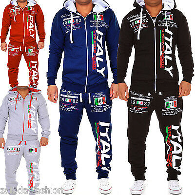 Herren Jogginganzug Jogging Jacke Sportanzug Fitness Italien Italy Hose ITA NEU