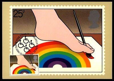 Briefmarken Obligatorisch Gb Uk Mk 1981 Jahr Der Behinderten Fuß-malerei Maximumkarte Maxi Card Mc Cm Ap48