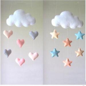 Image Is Loading Cute Cloud Love Heart Star Baby Nursery Mobile