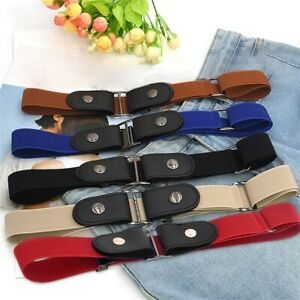 Unisex Buckle Free Elastic Invisible Belt For Jeans No Bulge Hassle Waist Belts