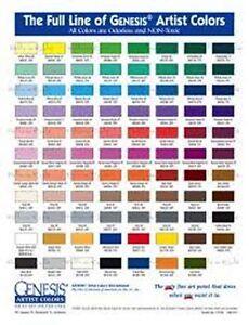 1 Oz Viridian Blue 02 Genesis Heat Set Oil Paint Ebay