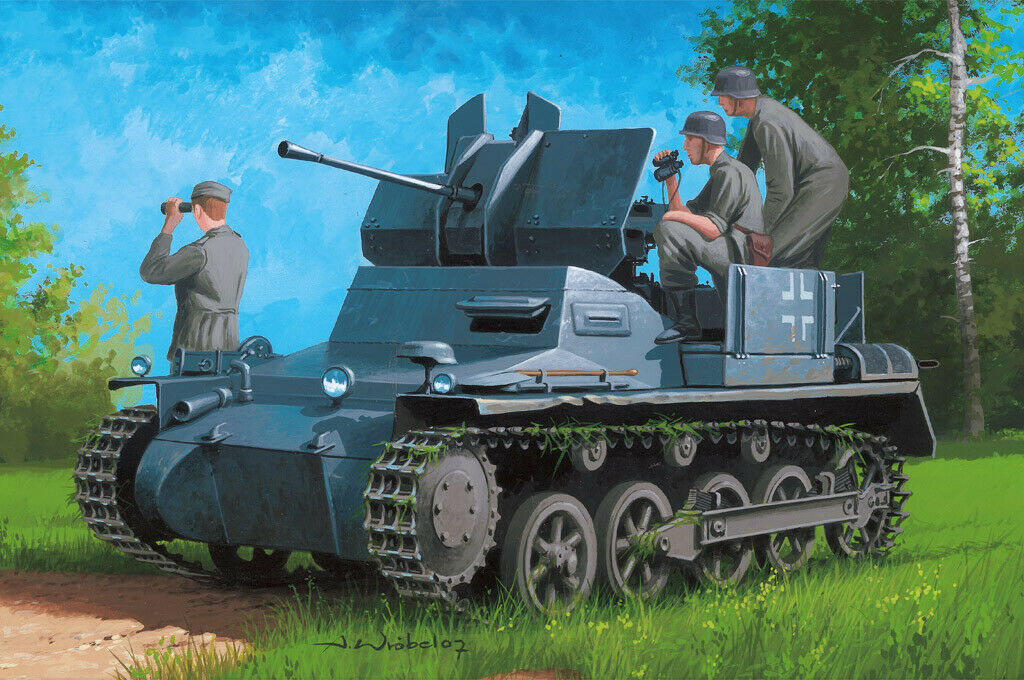 Hobbyboss 1 35 Flakpanzer 1a w  Ammo Trailer
