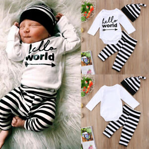 fb3d65335 Cute Newborn Baby Boy Girl Clothes Romper Jumpsuit Pants Trousers ...
