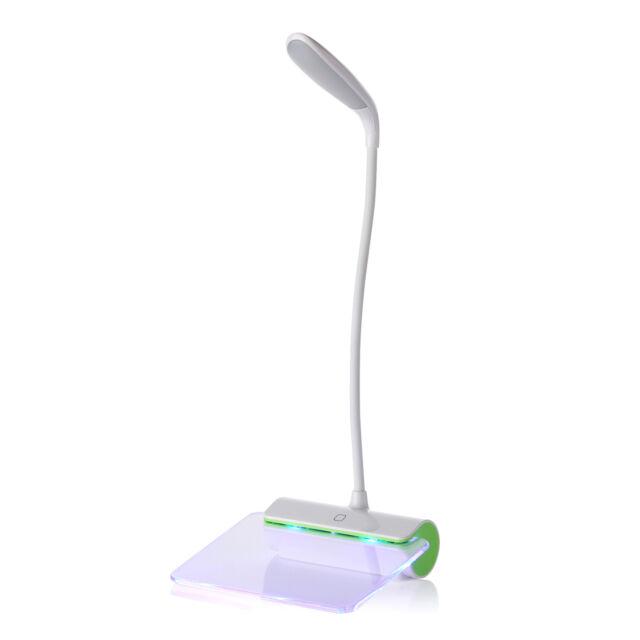 USB Rechargeable Touch Sensor Cordless LED Desk Table Reading Lamp Light NM#5