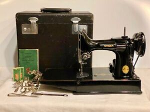 1948 One Owner Singer Featherweight Sewing Machine 221 w/Case/Rare-700F Motor!