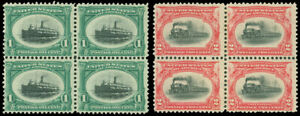 US-SCOTT-294-295-MINT-FINE-LH-Blocks-of-4-Pan-American-Expo-Issue-SCV-177-00