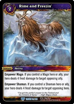WOW WARCRAFT TCG CROWN OF HEAVENS :Rime and Freezin' X 4