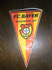 alter Fussball Wimpel F.C. Bayer Uerdingen 05 21x37,5cm