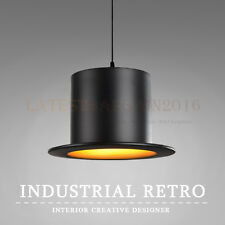 Pendant Lamp Ceiling Light Hat Shape Creative Bowler Retro Vintage Bar Cafe Loft