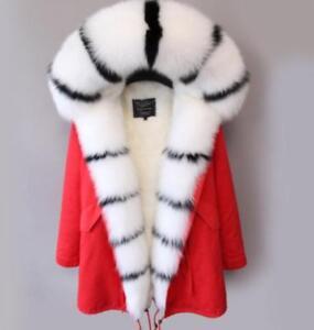 Jackets Warm Fur Parka Big Women's Winter Coat Add Outwear Thicken Hooded Bn0vxwUq