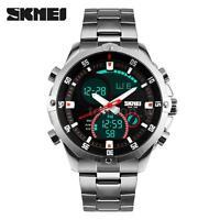 SKMEI 3ATM Waterproof Military Sport Men Analog Digital Quartz Wrist Watch S8R7
