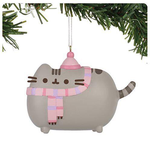 Pusheen Winter Ornament Department 56 Cat Kitten Holiday Christmas Scarf Hat
