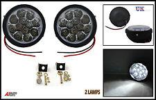 "12 Luces LED DRL Niebla correr Redondo 3.66"" para Vauxhal Vivaro Renault Trafic"