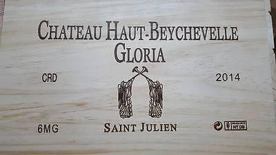 1 X Chateau Gloria Magnum Francese In Legno Cassa Di Vino Scatola Confezione Regalo Di Natale Idea-mostra Il Titolo Originale Qualità E Quantità Assicurate