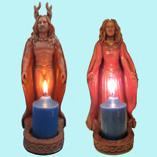 Horned God and Moon Goddess Statues by Mickie Mueller Pagan Altar Shrine #HGVMGV