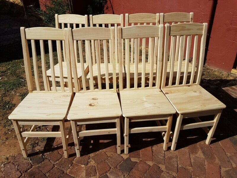 TOO CLEAR High Back Dining Room Chairs (R395 each)