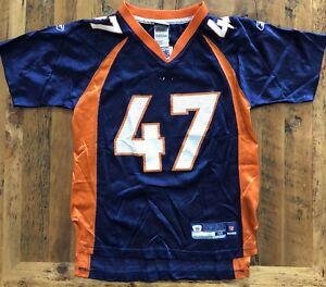 aa96d6f621b Vintage Denver Broncos Jersey #47 John Lynch Youth Size Medium 10/12 ...