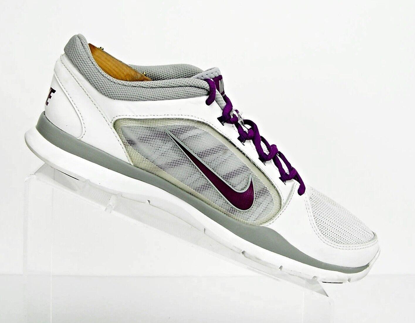 d3f942b6b9f0 ... Nike Women s Size 10 10 10 Flex Trainer Training Shoes 643083  White Bright Grape  ...