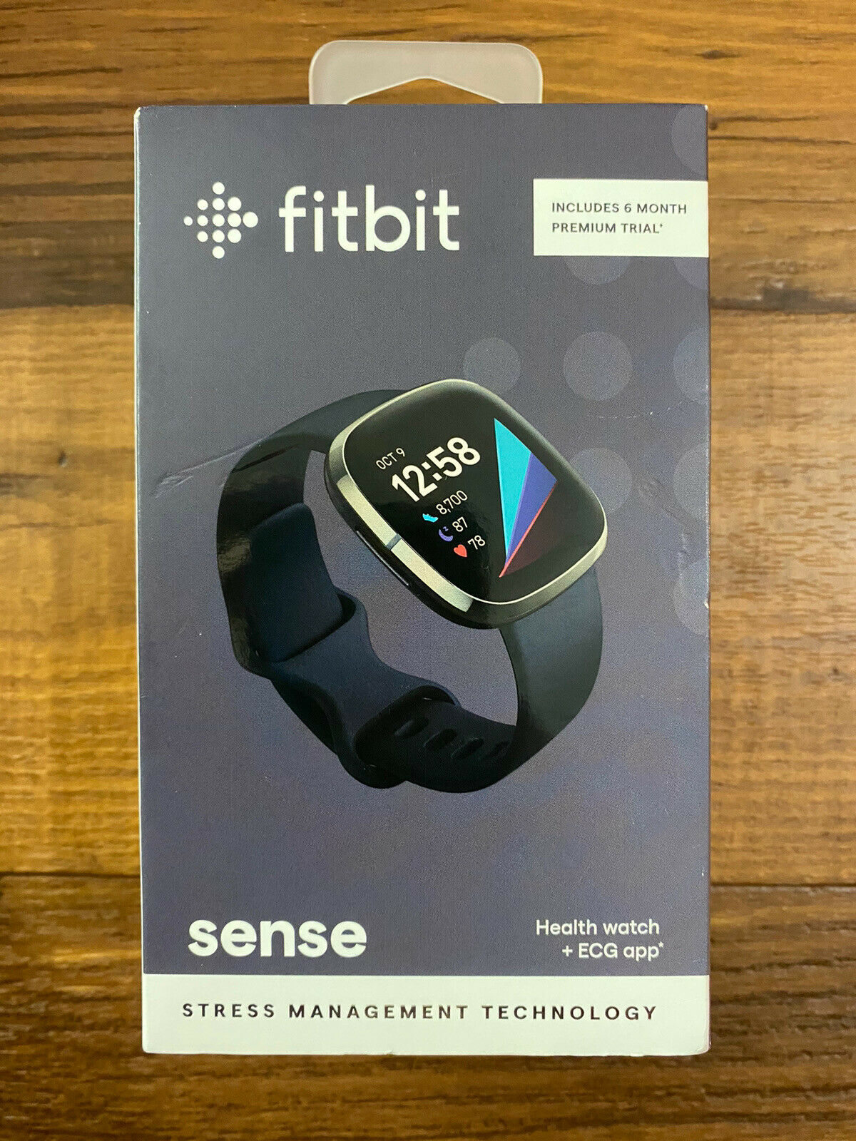 Fitbit Sense Fitness Health & Stress Tracker Smartwatch Graphite