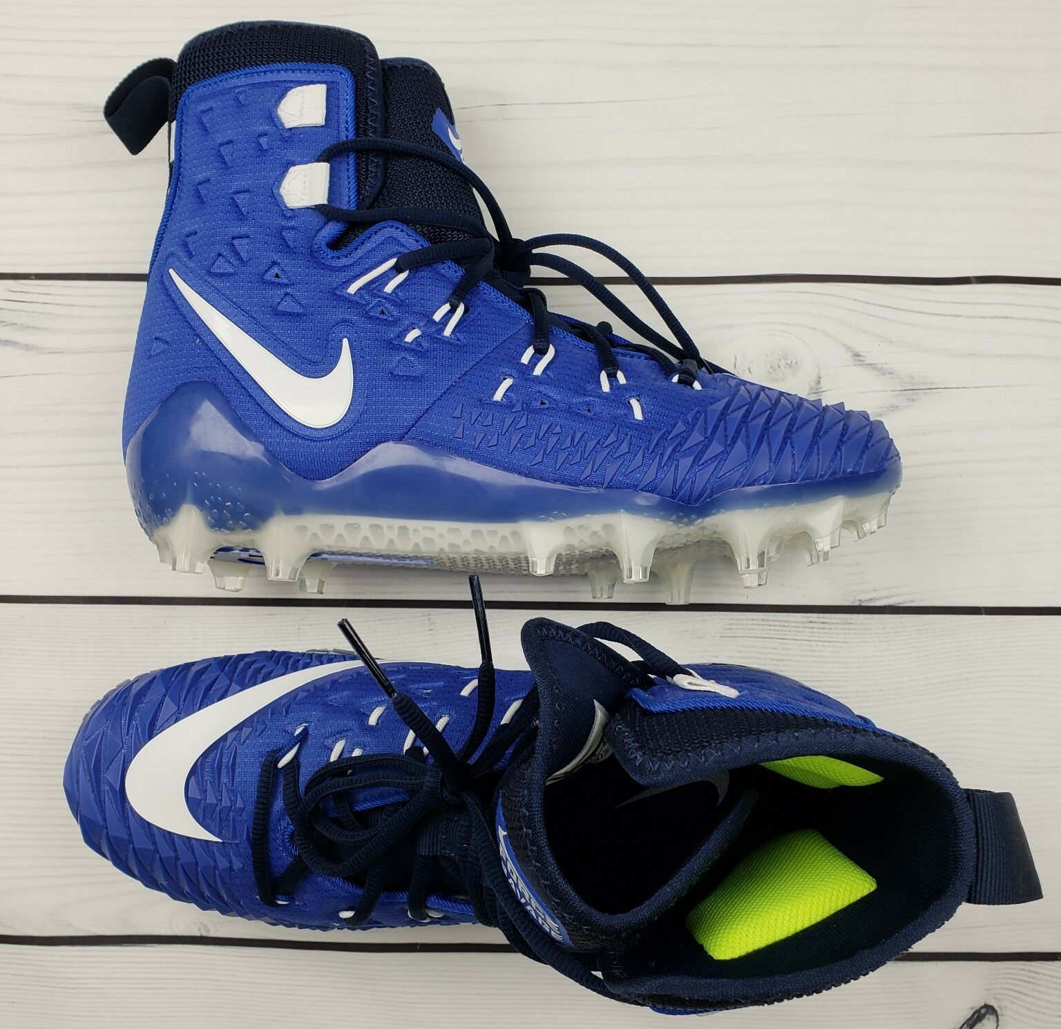 NIKE Force Savage Elite TD Football Cleat Blue 857063 414  Men New/NoBox Size 9