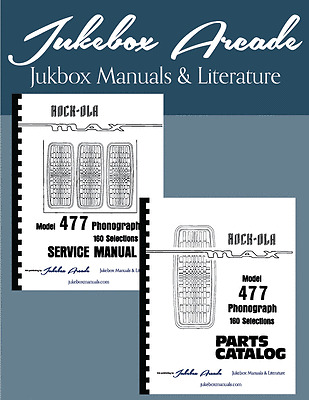 """Rock Ola 477 /""""MAX/"""" Service Manual /& Parts List with Troubleshooting Guide New"""